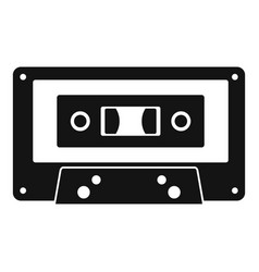music casette icon simple style vector image