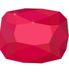 natural red spinel gemstone on white background vector image