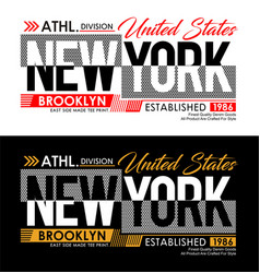 new york denim t-shirt and apparels graphic design vector image
