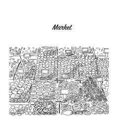 Oriental bazaar sketch for your design vector