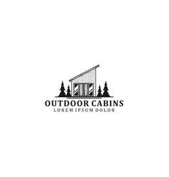 Outdoor cabin logo design - house - house vector