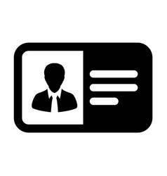 Passport icon male user person profile avatar vector