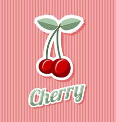 Retro cherry vector