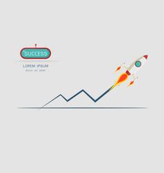 rocket launch vector image
