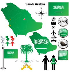 Saudi Arabia map vector