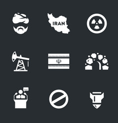Set of iran icons vector