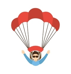 skydiving extreme sport icon vector image