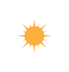 sun icon graphic design template isolated vector image
