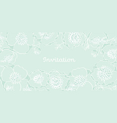Tender elegant mint green peony flowers vector