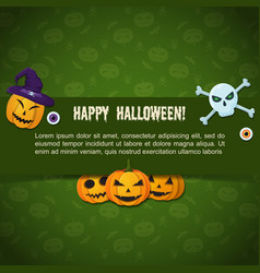 traditional halloween festive poster vector image