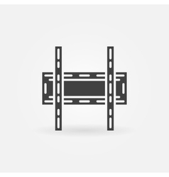 TV wall bracket icon vector