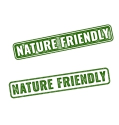 Two Nature friendly grunge rubber stamps vector image