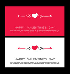 valentines day card poster card label banner d vector image
