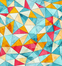 Vintage colored triangles seamless pattern vector