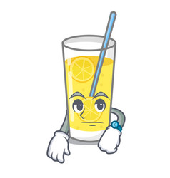 Waiting lemonade mascot cartoon style vector