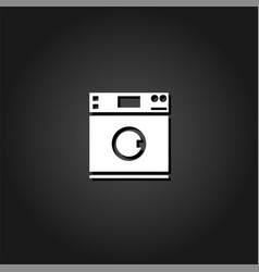 washing machine icon flat vector image
