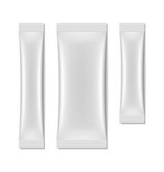 White blank sachet packaging stick pack vector image
