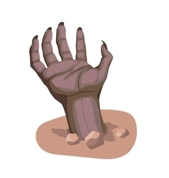 zombie hand stylized cartoon vector image