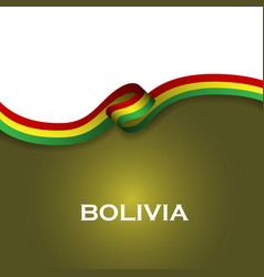 Bolivia sport style flag ribbon classic style vector