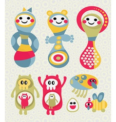 creative cartoons vector image vector image