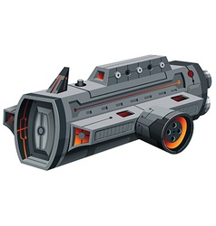 Modern spaceship on white vector image vector image