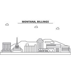 montana billings architecture line skyline vector image vector image