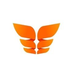Orange butterfly logo template isolated creative vector image