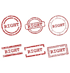 Right stamps vector image vector image