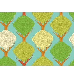 seamless pattern with beautiful trees - vector image vector image