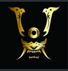 image of a samurai mask vector image