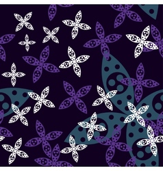 Magic Flower Seamless Pattern vector image vector image