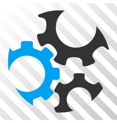 Mechanics Gears Icon vector image vector image
