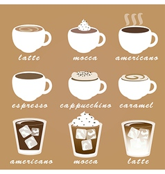 Morning coffee set EPS10 vector image vector image