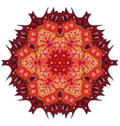 Red mandala ethnic decorative elements vector