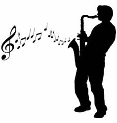 sax guy vector image vector image