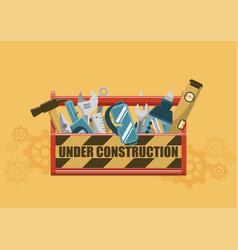 Under construction toolbox vector