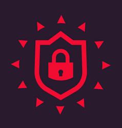 cybersecurity icon vector image vector image