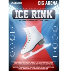 Poster Template of Ice Skating Rink vector image vector image