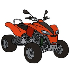 Red all terrain vehicle vector image vector image