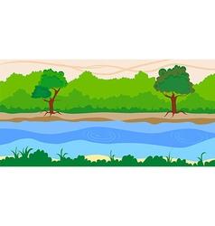 river side landscape background vector image