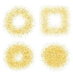 Set of six golden sand glitter effect good for vector image