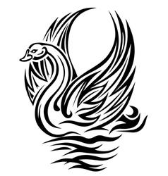 swan bird vector image vector image