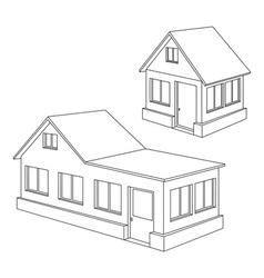 apartment house contour vector image vector image