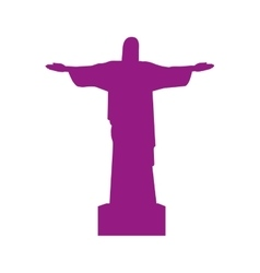 christ of corcovado landmark icon vector image