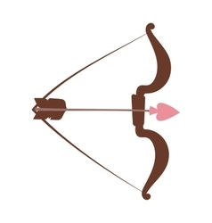 Cupid bow and arrow vector image