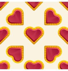 Golden Heart Pattern vector image