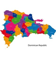 Map of Dominican Republic vector image