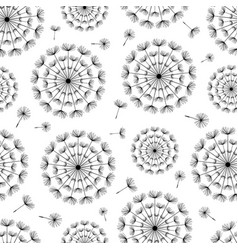 seamless background with dandelion fluff vector image vector image