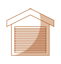 warehouse building isolated icon vector image vector image