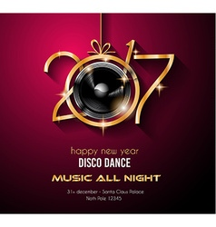 2017 happy new year party background for your vector image
